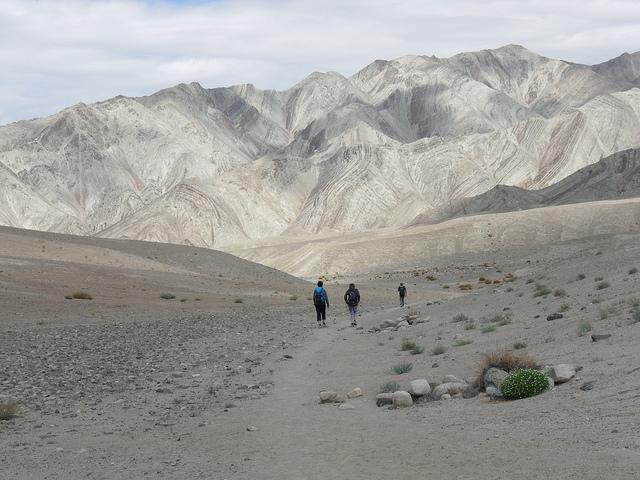Wanderer auf weitem Weg